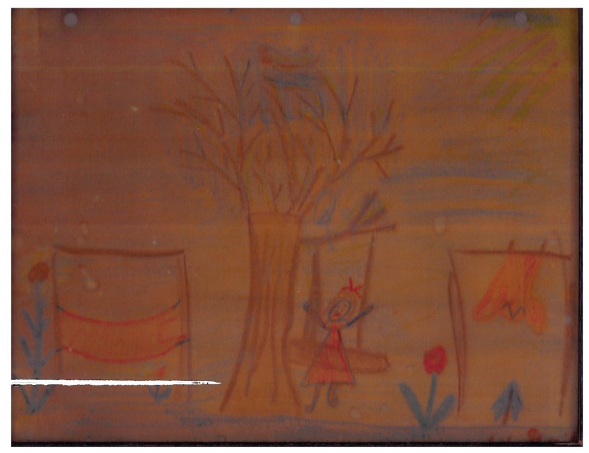Gail Thomas Strong's childhood drawing