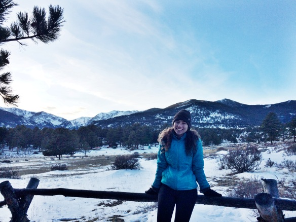 Our intern Lyla at Rocky Mountain National Park, CO